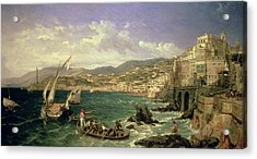View Of Genoa Acrylic Print by William Parrott