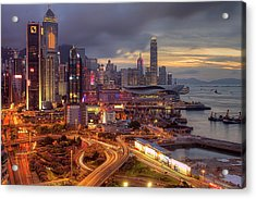 View Of Hong Kong Acrylic Print by Marty Windle