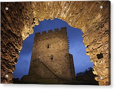 View Of Medieval Dolwyddelan Castle Acrylic Print by Jim Richardson
