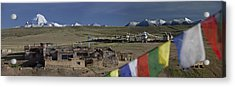 View Of Mount Kailash From Chiu Acrylic Print by Phil Borges