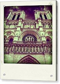 View Of Nd De Paris On River Seine. Paris Acrylic Print