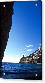 View Of Praiano Italy Acrylic Print by Cliff Wassmann
