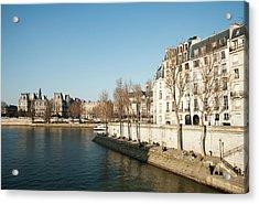 View Of Seine River, Paris Acrylic Print