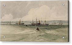View Of Sheerness Acrylic Print by Francois Louis Thomas Francia