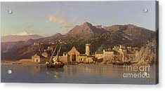 View Of Taormina Sicily Acrylic Print by Alessandro la Volpe