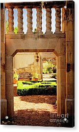 View Of The Garden Acrylic Print by Tamyra Ayles