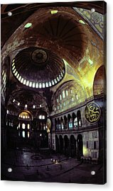 View Of The Interior Of Hagia Sophia Acrylic Print by James L. Stanfield