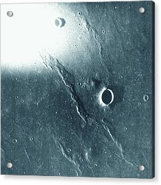 View Of The Landscape Of The Moon Acrylic Print by Stockbyte