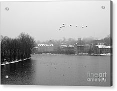 View Of The Mills Acrylic Print by Joel Witmeyer