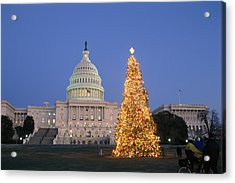 View Of The National Christmas Tree Acrylic Print by Richard Nowitz