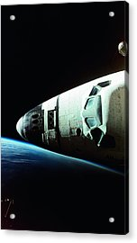 View Of The Nose Of Space Shuttle Acrylic Print by Stockbyte