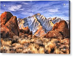 View Of The Sierras Acrylic Print by Dominic Piperata