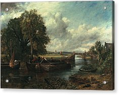 View Of The Stour Near Dedham Acrylic Print by John Constable