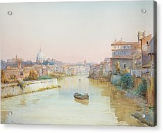 View Of The Tevere From The Ponte Sisto  Acrylic Print