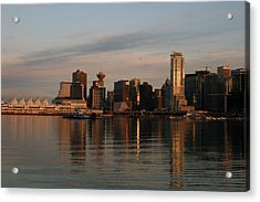 View Of The Waterfront And Downtown Acrylic Print by Darlyne A. Murawski