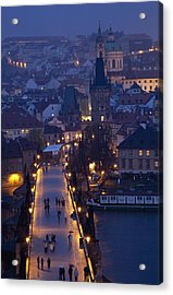 View Over The Charles Bridge Towards Acrylic Print by Axiom Photographic