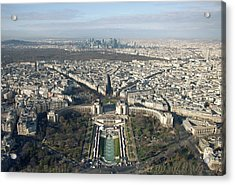 View Over Trocadero From Eiffel Tower. Paris Acrylic Print by Nico De Pasquale Photography