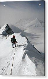 Viewing Mt.shinn From The Vinson Acrylic Print by Gordon Wiltsie