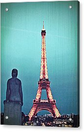 Viewing The Eiffel Tower Acrylic Print