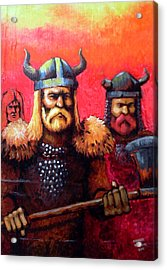 Vikings Acrylic Print by Edzel marvez Rendal