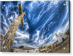 Village Cross Acrylic Print by Nathan Wright