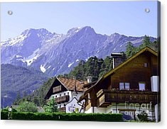 Village In Alps Acrylic Print