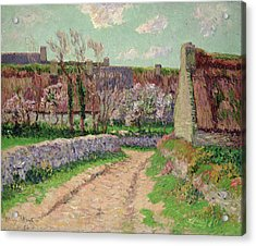 Village In Clohars Acrylic Print by Henry Moret