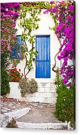 Village In Greece Acrylic Print