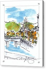 Village In Sw France Acrylic Print