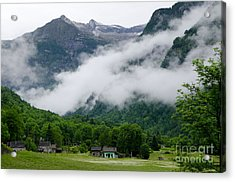 Village In The Alps Acrylic Print