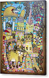 Villages Of My Childhood Acrylic Print