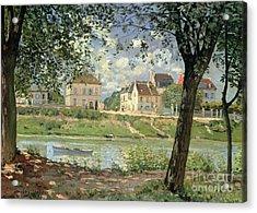 Villeneuve La Garenne Acrylic Print by Alfred Sisley