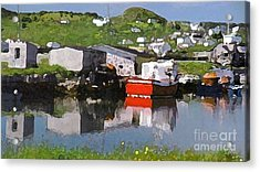 Acrylic Print featuring the photograph Villiage by Lydia Holly