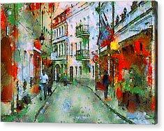 Vilnius Walk Acrylic Print by Yury Malkov
