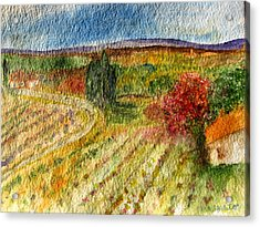 Vineyard In Provence Acrylic Print