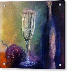 Vino Acrylic Print by Michelle Calkins