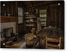 Vintage 1850s Cracker Kitchen Acrylic Print by Lynn Palmer