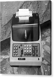 Vintage Adding Machine Acrylic Print by George Marks