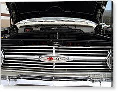 Vintage American Chevrolet Emblem And Grille 7d15159 Acrylic Print by Wingsdomain Art and Photography