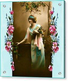 Vintage Aqua Acrylic Print by Mary Morawska