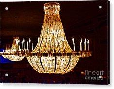 Vintage Ballroom Chandalier Fractal Acrylic Print by Darleen Stry