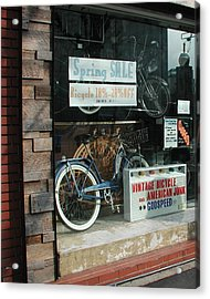 Vintage Bicycle And American Junk  Acrylic Print