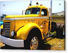 Vintage Big Rig . 7d15483 Acrylic Print by Wingsdomain Art and Photography