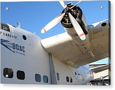 Vintage Boac British Overseas Airways Corporation Speedbird Flying Boat . 7d11279 Acrylic Print by Wingsdomain Art and Photography