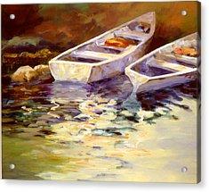 Vintage Boats Acrylic Print by David Rickert