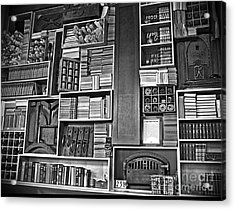 Acrylic Print featuring the photograph Vintage Bookcase Art Prints by Valerie Garner