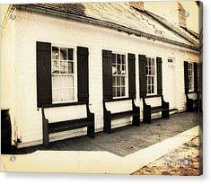 Vintage Building 2 Acrylic Print by Emily Kelley