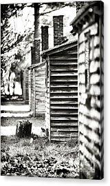 Vintage Cabins Acrylic Print by John Rizzuto