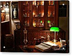 Vintage Chemist Desk In Apothecary Shop Acrylic Print