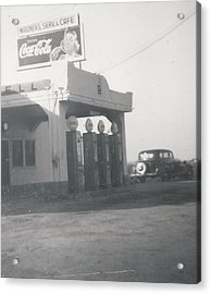 Vintage Coca Cola And Gas Acrylic Print by Alan Espasandin